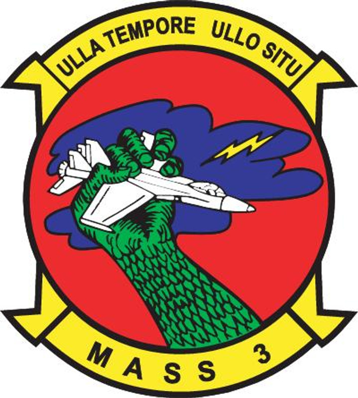 USMC MASS-3 Marine Air Support Squadron Patch Sticker NEW!!!