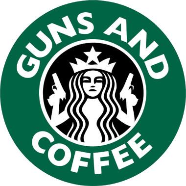 Coffee Guns /& Jiu Jitsu Decal Sticker 4X6