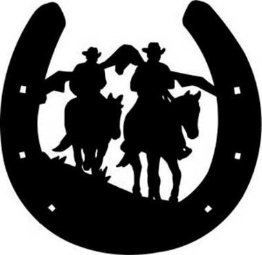 Cowboys Amp Horseshoe Decal