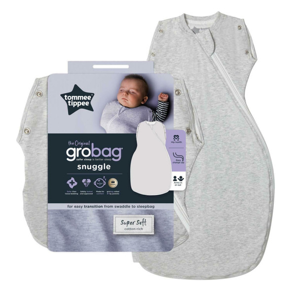 Tommee Tippee Grobag Newborn Snuggle Baby Sleep Bag - Grey Marl - All Sizes/Ages