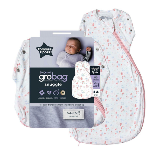 Tommee Tippee Grobag Newborn Snuggle Baby Sleeping Bag Pretty Petals - All Sizes