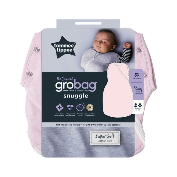 Tommee Tippee Grobag Newborn Snuggle Baby Sleep Bag - Pink Marl - All Sizes/Ages