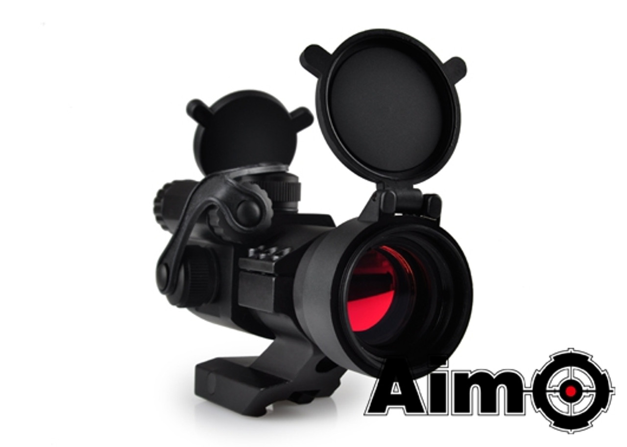 Aim-O M2 Red/Green Dot With Cantilever Mount - Black
