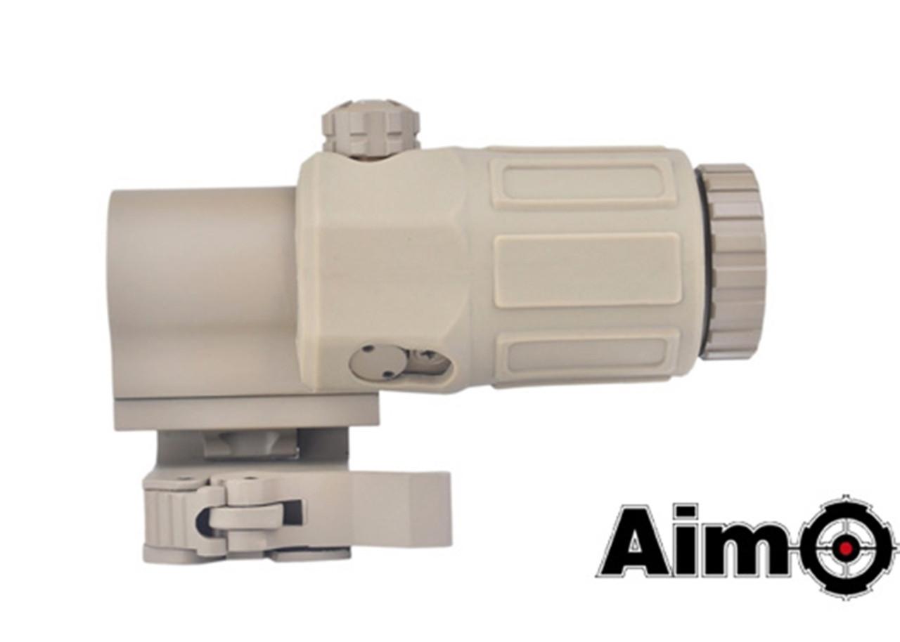 Aim-O G33 3X Magnifier - Dark Earth