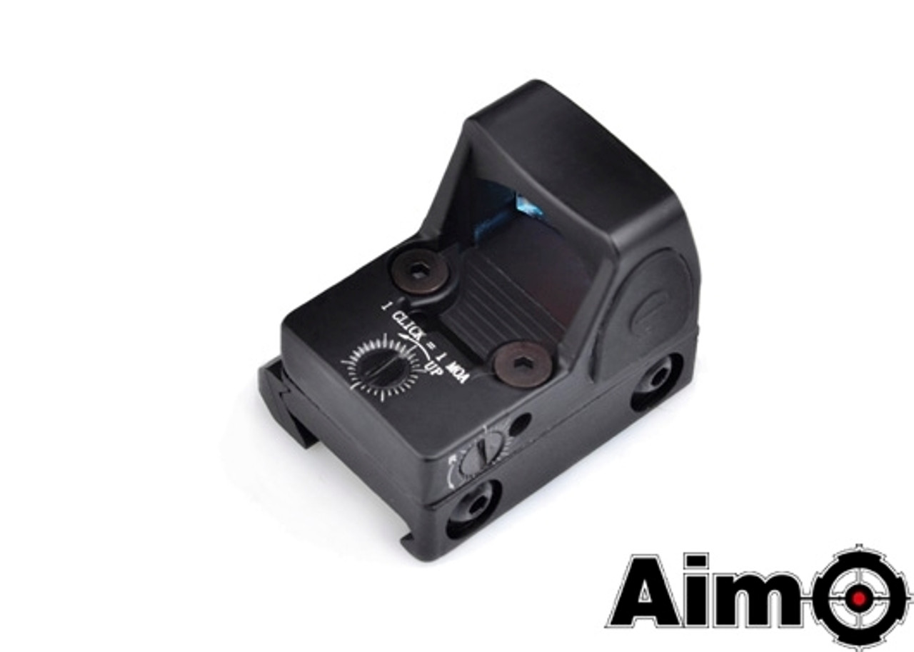 Aim-O Adjustable LED RMR Red Dot - Black