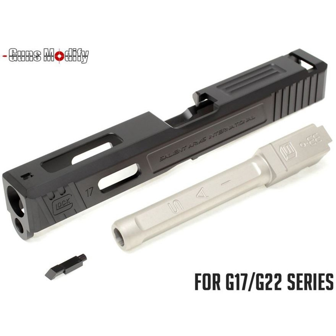 Guns Modify SA Alu CNC Slide/Stainless 4 fluted SV barrel Set for TM G17