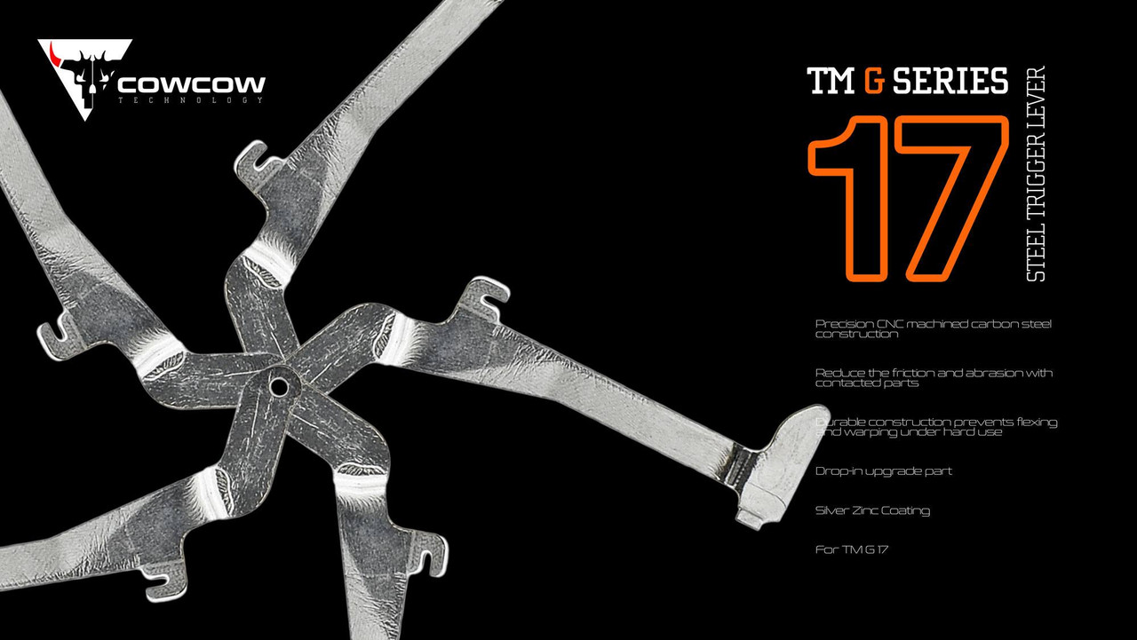 CowCow Technology - G17 Steel Trigger Lever (For Marui G17/22/34)