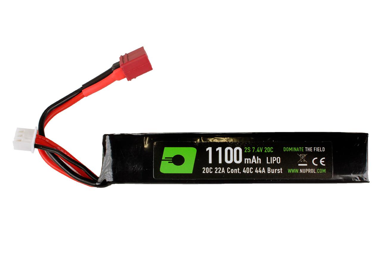 Nuprol 1100 7.4v 20c Stick Type - Deans