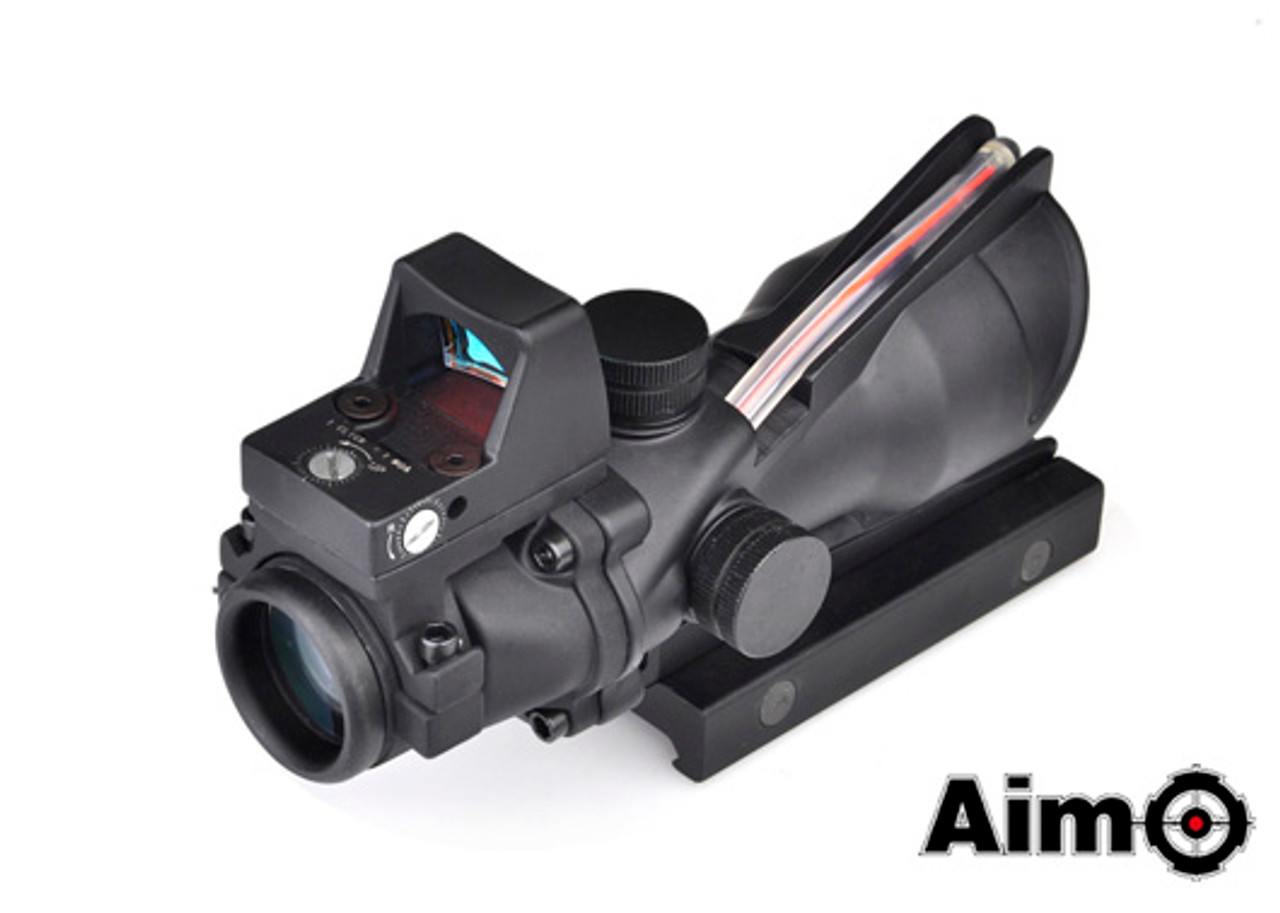 Aim-O ACOG 4X32 Illuminated Fiber With RMR Red Dot