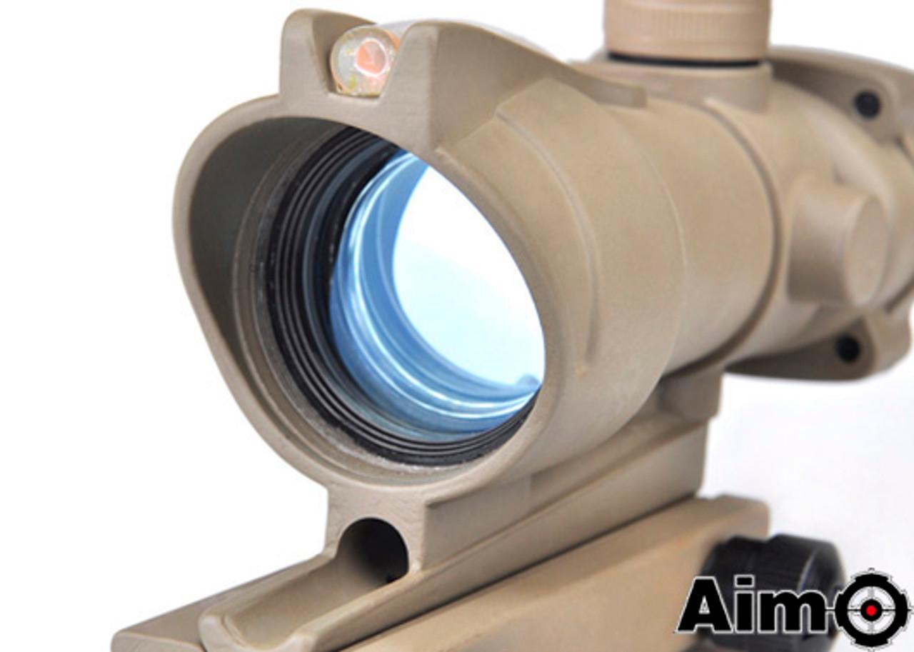 Aim-O ACOG 4X32 Illuminated Fiber  - Dark Earth