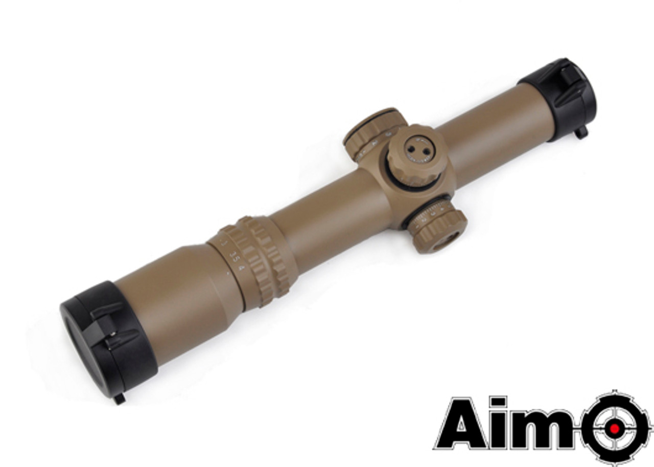 Aim-O 1-4x24SE Tactical Scope (Red/Green Reticle) - DE