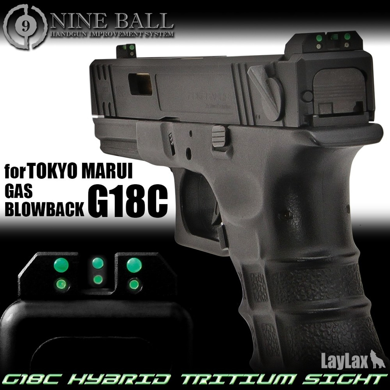 Nine Ball - G18C Hybrid Tritium Sights