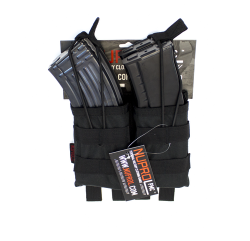 Nuprol AK Double Open Mag Pouch Black