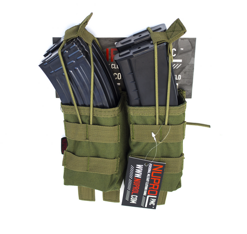 Nuprol AK Double Open Mag Pouch Green