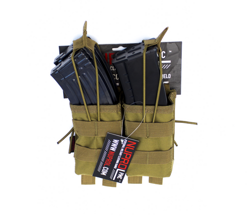 Nuprol AK Double Open Mag Pouch Tan