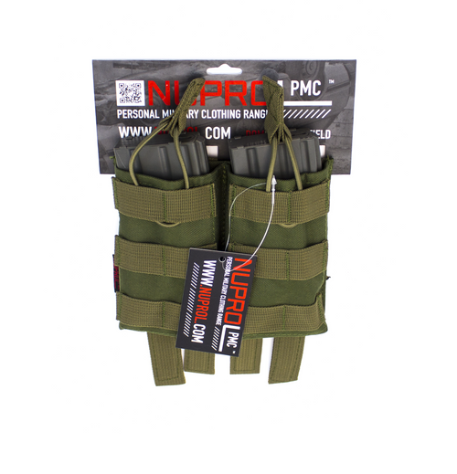 Nuprol M4 Double Open Mag Pouch Green