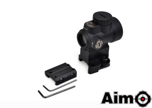Aim-O MRO Red Dot with QD Riser Mount & Low Mount - Black