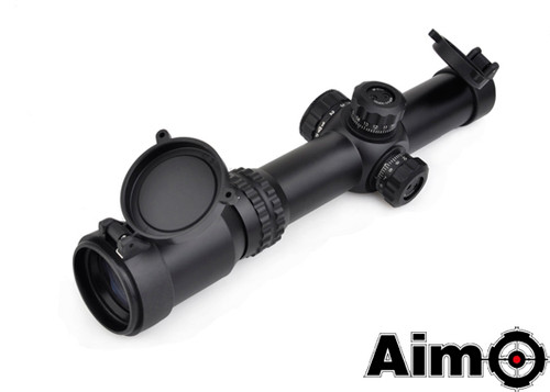 Aim-O 1-4x24SE Tactical Scope(Red/Green Reticle) - Black
