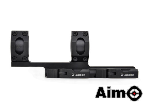 Aim-O Extended 25mm/30mm Ring Mount - Black