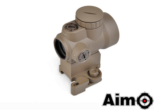 Aim-O MRO Red Dot with QD Riser Mount & Low Mount - Dark Earth
