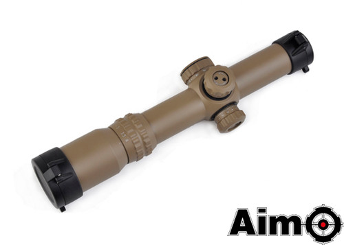 Aim-O 1-4x24SE Tactical Scope (Red/Green Reticle) - Dark Earth