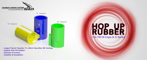 UAC Hop-up Rubber For Marui Hi-capa & G17/G18c/G34 (50 Degree)