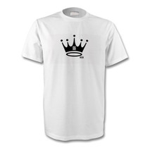 id2 heir team t shirt crown design black on white