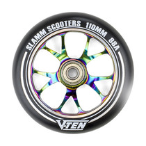 The Slamm 110mm V-Ten II wheels are newly refined, CNC finished, ensuring precise bearing alignment.