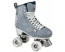 A classic figure skate design with a high-cut PU-suede boot with a high-cut boot and figure skate outsole for extra stability. The EVA foam padding and Aircraft grade aluminium trucks with steel king pins provide comfort and reassure longevity of the skate.