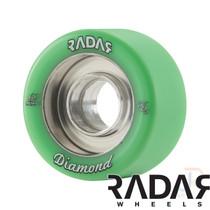 RADAR WHEELS (4) - DIAMOND - GREEN - 62mm/96a