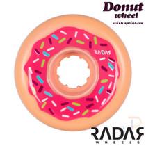 RADAR WHEELS (4) - DONUT - PINK 62mm/78a