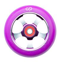 Crisp 5 Spoke Wheel - 100mm - Purple on Purple