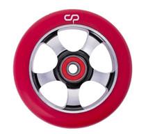 Crisp 5 Spoke Wheel - 100mm - Red on Black