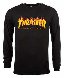 Thrasher Long Sleeve T Shirt Flame Logo