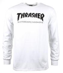 Thrasher Long Sleeve T Shirt Skate Mag Logo- White