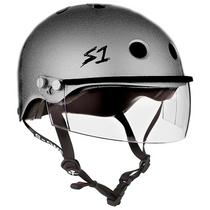 S1 Lifer Helmets inc Visor - Silver Glitter