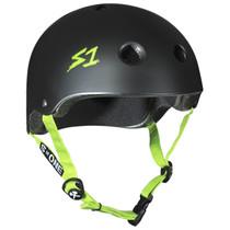 S1 Lifer Helmets-Black Matt Green Strap