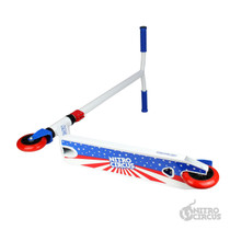 Nitro Circus CX2 Complete Scooter - White / Blue