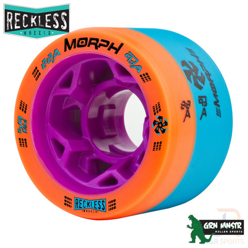 RECKLESS WHEELS (4) - MORPH 88a/93a - ORANGE/BLUE