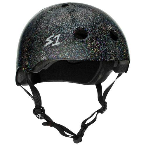 S1 MEGA Lifer Helmets- Black Gloss Glitter