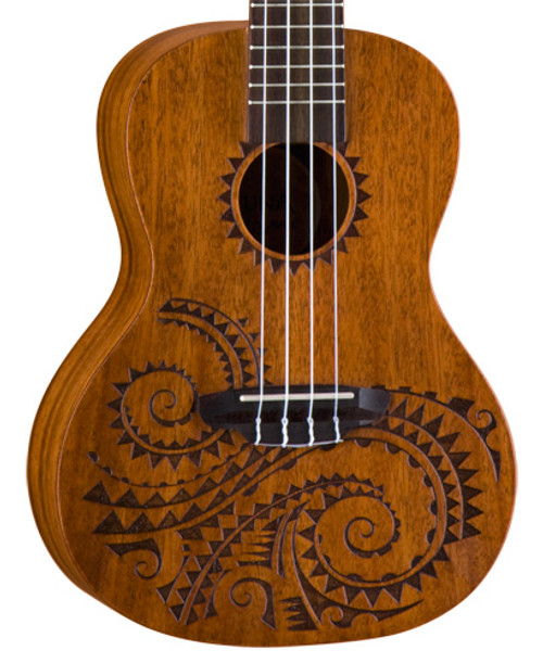 Luna Tattoo Concert Ukulele with Gig Bag