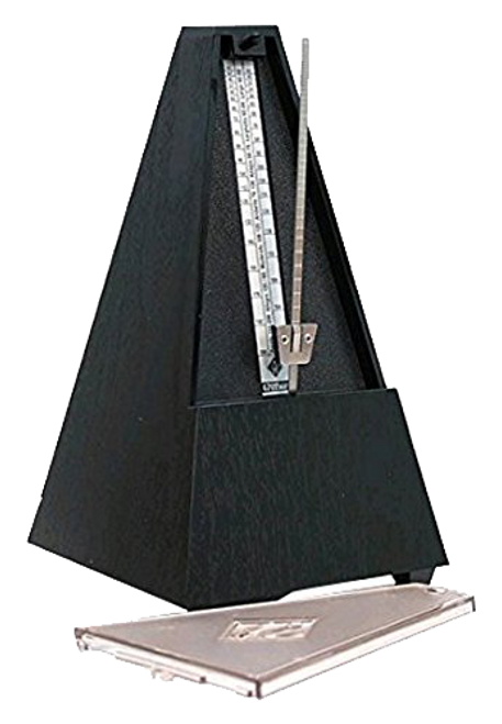 Wittner Plastic Metronome w/ Bell - Clear Front