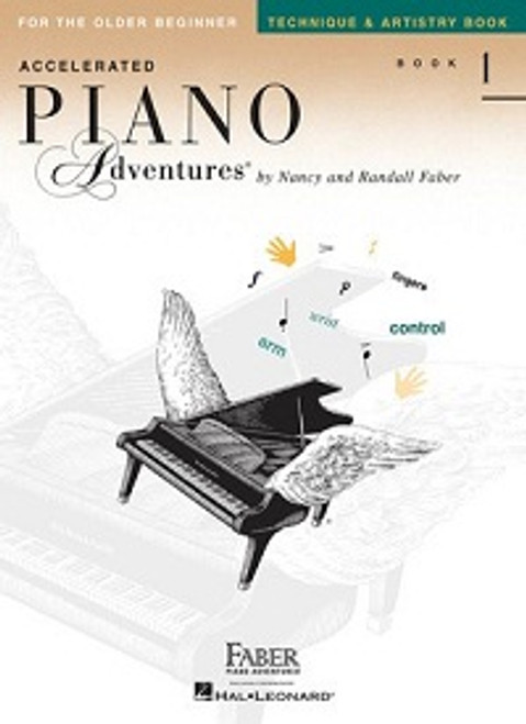 Accelerated Piano Adventures for the Older Beginner Level 1 - Technique & Artistry Book Only