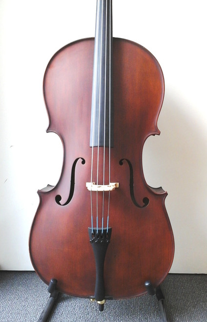 Enrico Student Plus II 1/2 Cello Outfit (includes Bow, Semi-Hard Case & Pro Set-Up)