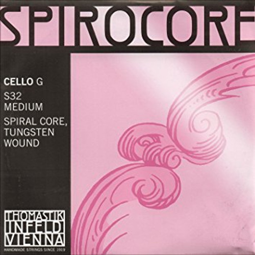 Spirocore Cello G String - 4/4 - Tungsten - Medium Tension