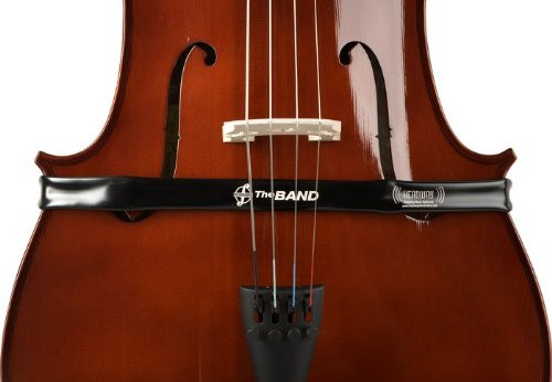 The Band is an instant-fit pick-up which Velcro's to itself around the the body of the instrument. It requires no alteration of the instrument itself and generates a strong passive (no batteries required) signal which can usually be plugged straight into a mixing desk or combo amp. The multiple pick-up elements, of the Cello version of The Band, are tuned specifically for Cello and deliver a lively, tailored passive signal. The Band is used equally in folk/rock and classical situations and is a favourite with sound engineers and players alike, as it offers far greater volume levels before feedback, compared to mics. You can avoid being tied down to mic stands and The Band cuts feedback, bowing noise, body noise and excessive treble by acoustic filter. Good rejection of feedback, background, body boom and bowing noise. Reliable sturdy construction and stores easily in most cello cases. Passive device which does not usually require a pre-amp to amplify effectively. Plugs directly into most mixing desks or combo amps and will drive many pedals and rack units.