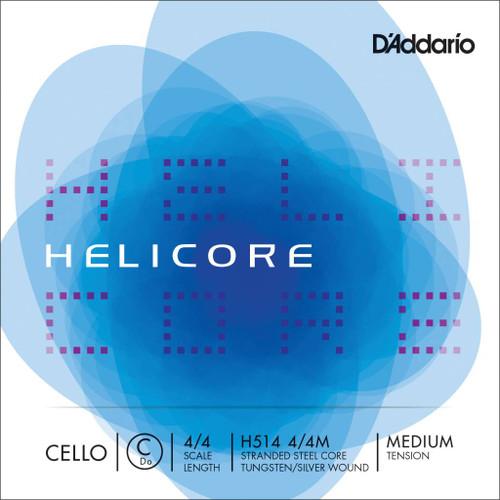 D'addario Helicore Cello String - C String - 4/4 Medium