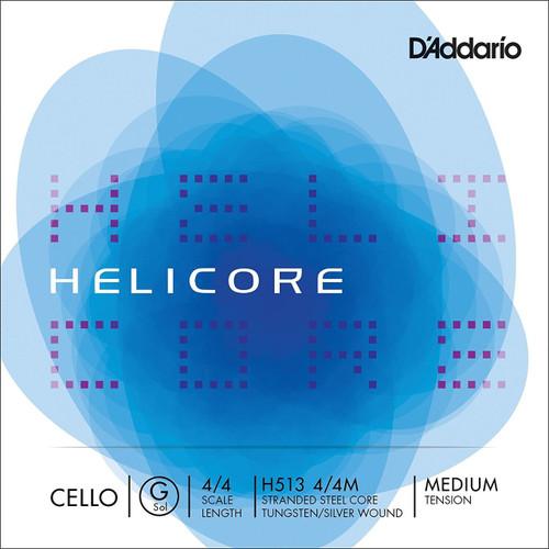 D'addario Helicore Cello String - G String - 4/4 Medium