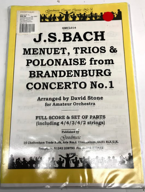 Bach Menuet, Trios & Polonaise from Brandenburg Concerto No. 1