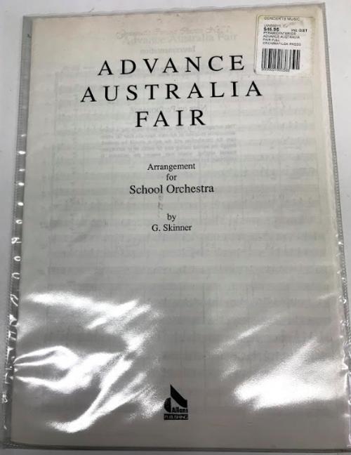 Advance Australia Fair Arrangement for School Orchestra